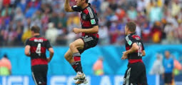 Esultanza dei giocatori tedeschi