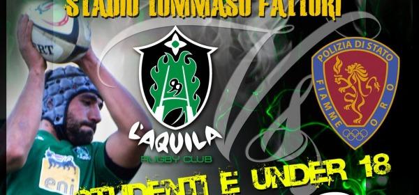 Incontro rugby L'Aquila-fiamme oro