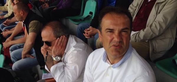 Marcello Di Giuseppe e Vincenzo Vivarini in tribuna a L'Aquila