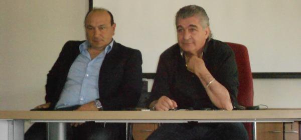 Walter Bellia con al fianco Walter Costa