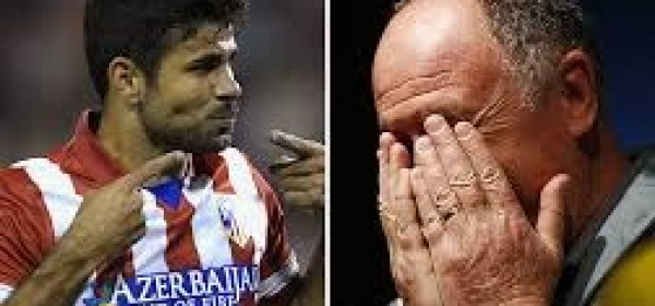 Diego costa e Felipe Scolari