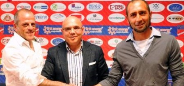 A sinistra Marcello Di Giuseppe, direttore sportivo Teramo