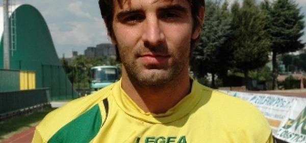 L'attaccante biancorosso Luis Federico Arcamone