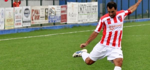 L'attaccante del Teramo, Luis Federico Arcamone